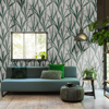 Picture of Amarna Green Botanical Wallpaper