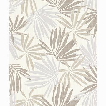 Picture of Khmunu Neutral Palm Leaf Wallpaper