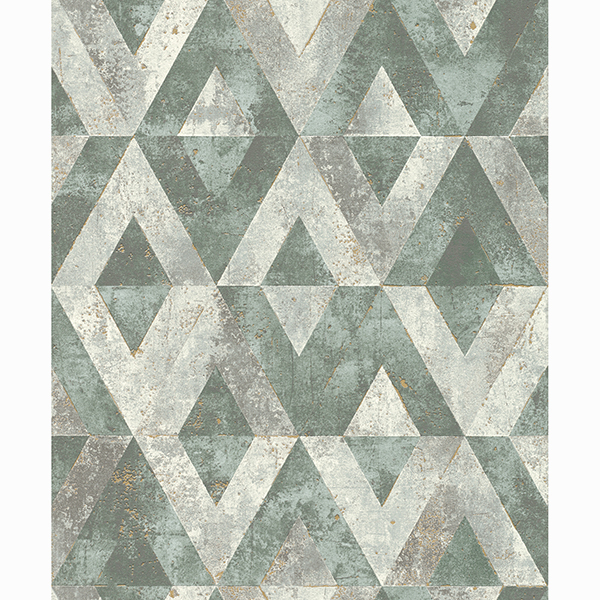 Picture of Shikhar Teal Geometric Wallpaper