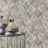 Picture of Shikhar Silver Geometric Wallpaper