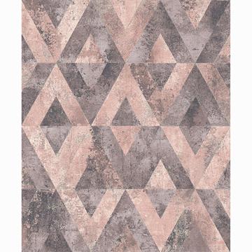 Picture of Shikhar Rasberry Geometric Wallpaper