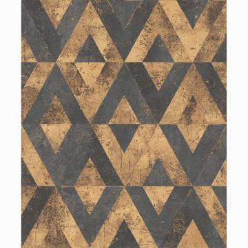 Picture of Shikhar Gold Geometric Wallpaper