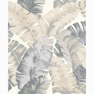 Picture of Pisang Neutral Palm Leaf Wallpaper