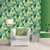 Picture of Pisang Green Palm Leaf Wallpaper
