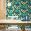 Picture of Pisang Navy Palm Leaf Wallpaper