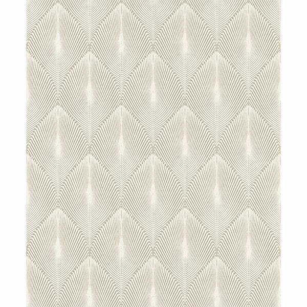 Picture of Tirsuli Taupe Ogee Wallpaper