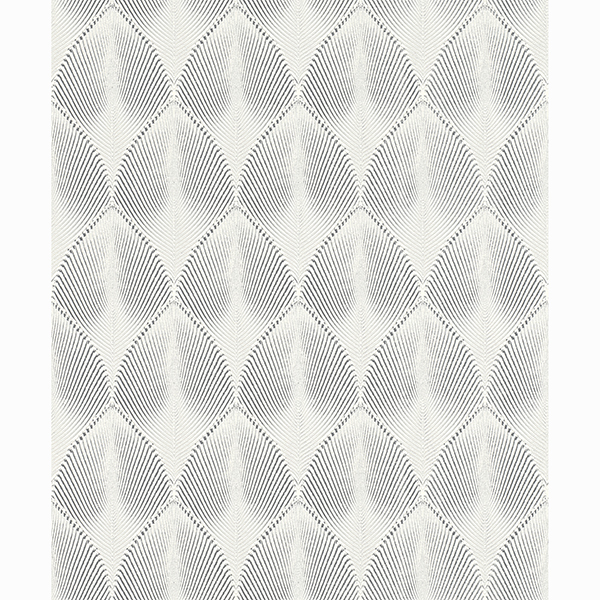 Picture of Tirsuli White Ogee Wallpaper