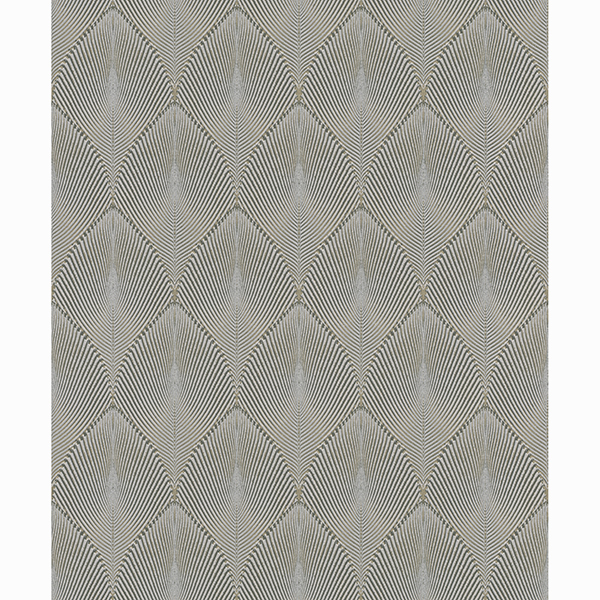 Picture of Tirsuli Grey Ogee Wallpaper
