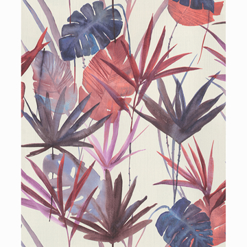 Picture of Nameri Ruby Tropical Frond Wallpaper