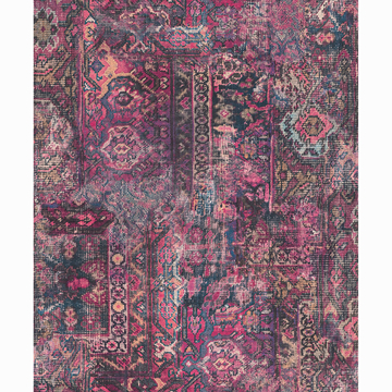 Picture of Hamadan Purple Textile Wallpaper