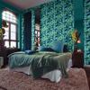 Picture of Orissa Dark Blue Palm Frond Wallpaper