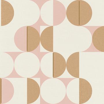 Picture of Cakara Blush Geometric Wallpaper