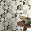 Picture of Cakara Cream Geometric Wallpaper