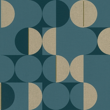 Picture of Cakara Blue Geometric Wallpaper