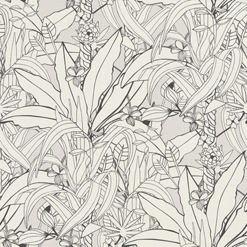 Picture of Manipur  Off-White Jungle Canopy Wallpaper