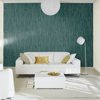 Picture of Pinna Teal Feather Texture Wallpaper