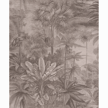 Picture of Anamudi Pewter Tropical Canopy Wallpaper