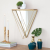 Picture of Gatana Gold Triangle Shelf Mirror