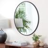 Picture of Adelina Black Circular Mirror