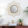 Picture of Adrina Gold Floral Petal Mirror
