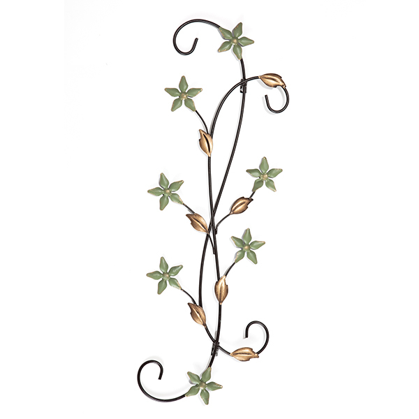Picture of Katelyn Star Floral Scroll Metal Wall Art