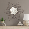 Picture of Leith Layered Floral Metal Wall Art