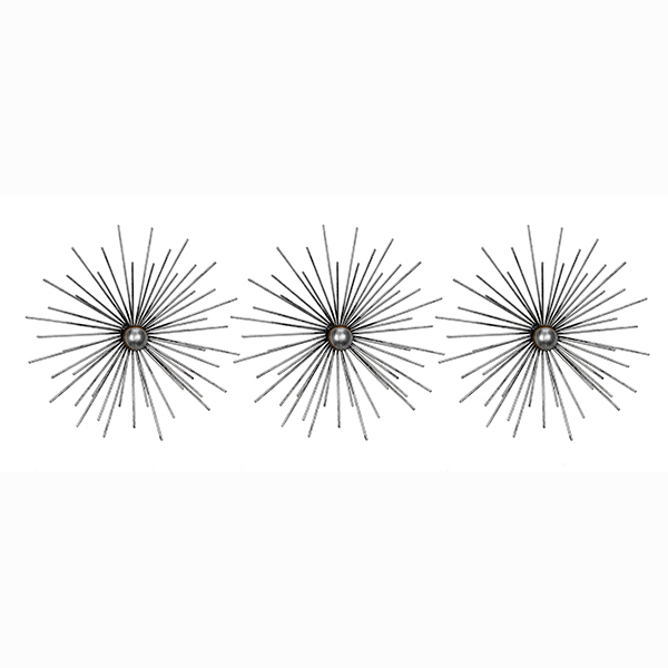 Picture of Cabers Silver Starbursts Metal Wall Art