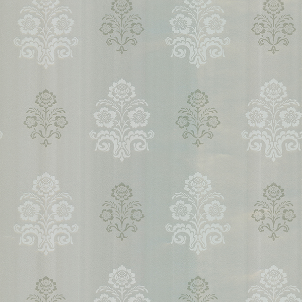 Picture of Madeline Silver Floral Wallpaper