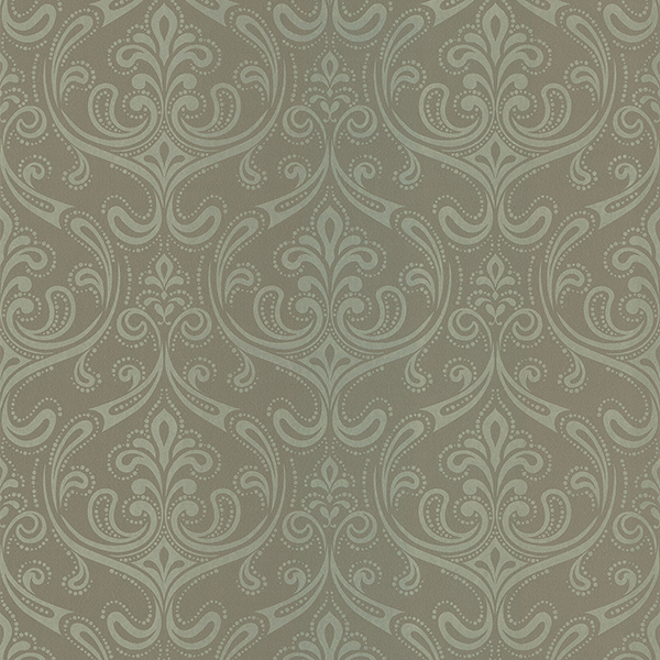 Picture of Anastaise Moss Ogee Damask Wallpaper