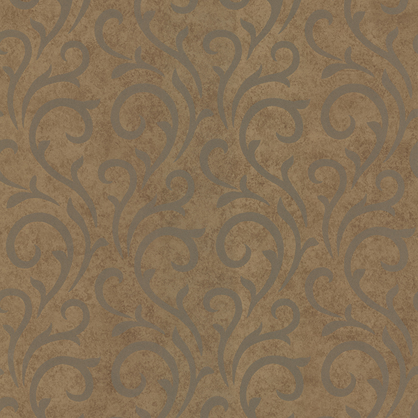 Picture of Ophelia Copper Scroll Wallpaper