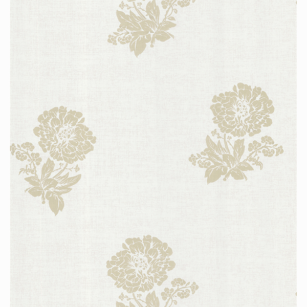 Picture of Berenice Light Grey Floral Medallion Wallpaper