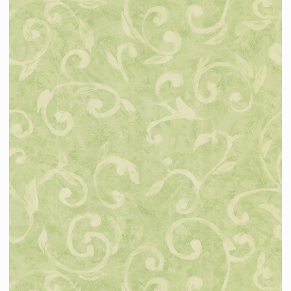 Picture of Sprout Green Scroll Wallpaper