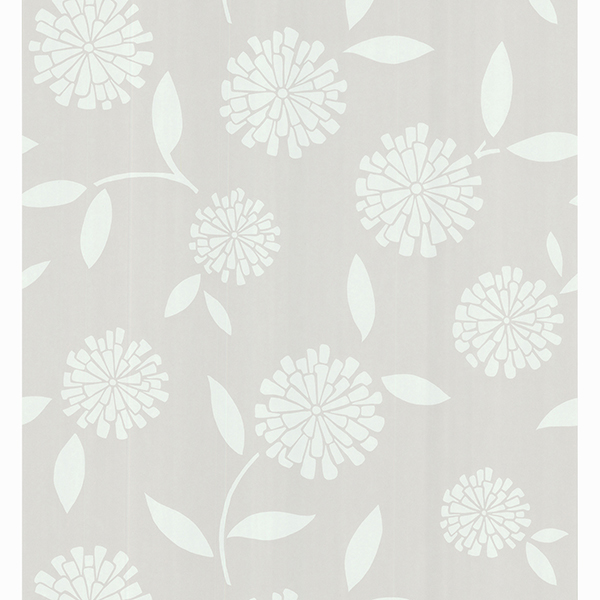 Picture of Zinnia Beige Flower Wallpaper