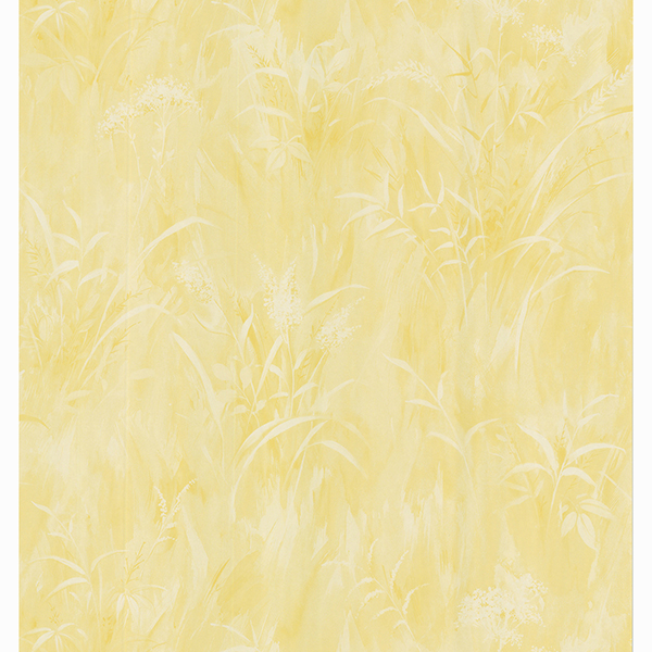 Picture of Washy Style Butter Leaf Print Wallpaper
