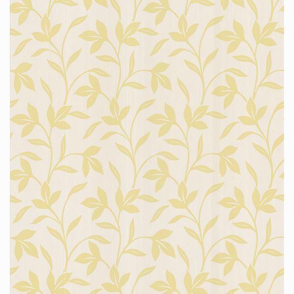 Picture of Abilene Light Yellow Leaf Trail Wallpaper