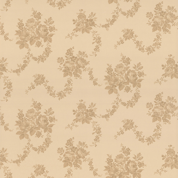 Picture of Antonia Beige Floral Damask Wallpaper