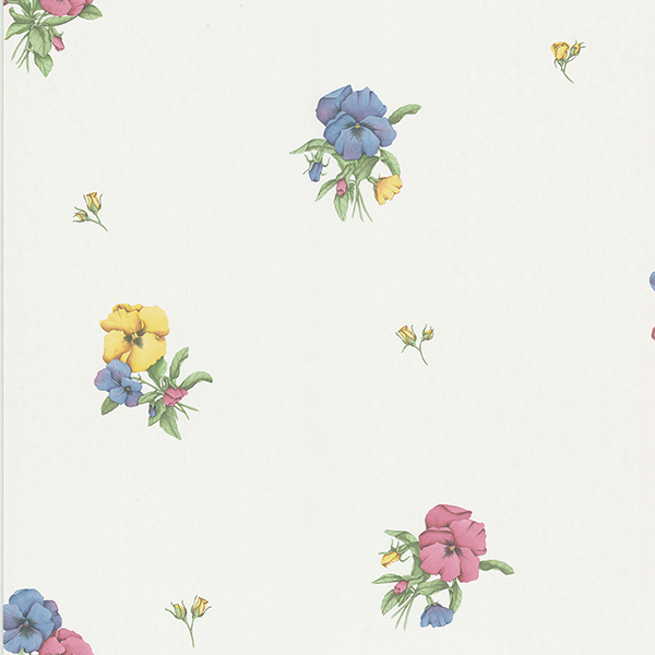 Picture of Jenna 465-8013 Cream Tri-Color Floral Wallpaper