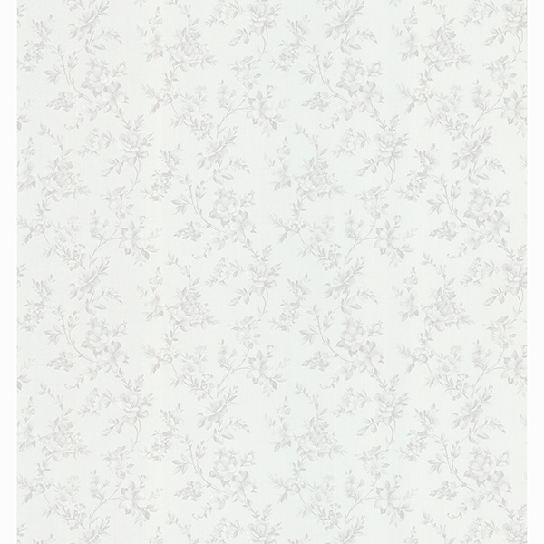 Picture of Edna Silver Country Floral Wallpaper