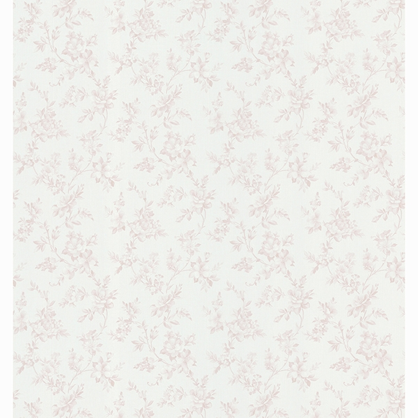Picture of Edna Light Grey Country Floral Wallpaper