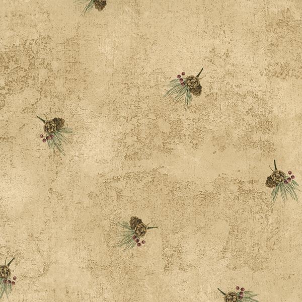 Picture of Cornell Brown Pine Cone Spot Wallpaper