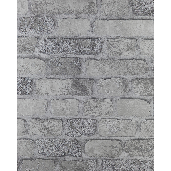 Picture of Princess Street Grey Brick Wallpaper