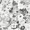 Picture of Adeline Black Flower Garden Wallpaper