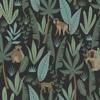 Picture of Macaque Dark Green Monkeys Wallpaper