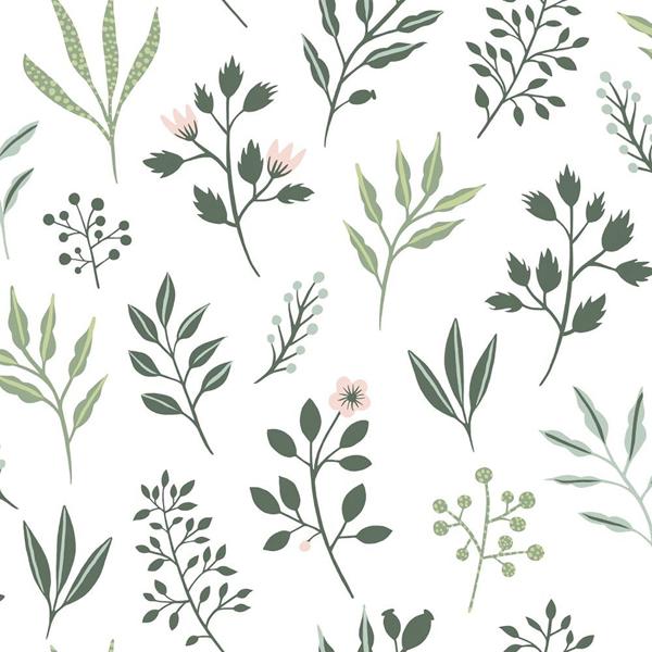 Picture of Cynara White Scandinavian Floral Wallpaper