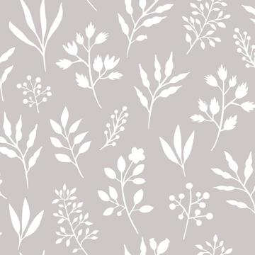 Picture of Cynara Grey Scandinavian Floral Wallpaper