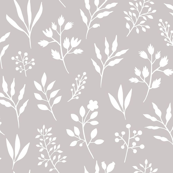 Picture of Cynara Grey Scandinavian Floral Wallpaper