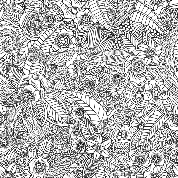 Picture of Dharma Black Inked Flowers Wallpaper