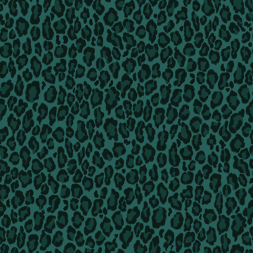 Picture of Cicely Green Leopard Skin Wallpaper
