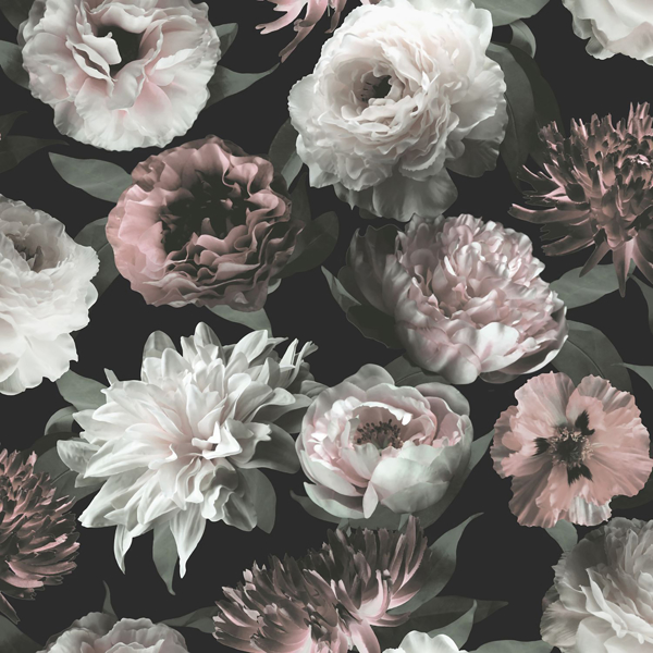 Picture of Contessa Blush Flowers Wallpaper