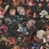 Picture of Zarinda Dark Grey Flowers Wallpaper
